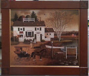 """Charles Wysocki – Limited Edition Lithograph On Canvas """"birch Point Cove"""""""