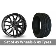 4 X 20 Wolfrace Munich Black Alloy Wheel Rims And Tyres - 275/40/20