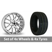 4 X 20 Wolfrace Munich Silver Polished Alloy Wheel Rims And Tyres - 255/40/20