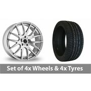 4 X 20 Wolfrace Munich Silver Polished Alloy Wheel Rims And Tyres - 275/40/20