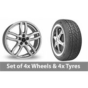 4 X 18 Wolfrace Temper Silver Alloy Wheel Rims And Tyres - 225/65/18