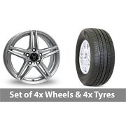 4 X 19 Wolfrace M10 Silver Alloy Wheel Rims And Tyres - 255/50/19