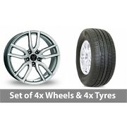 4 X 17 Wolfrace Torino Silver Alloy Wheel Rims And Tyres - 235/65/17