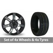 4 X 16 Wolfrace Twister Dark Grey Alloy Wheel Rims And Tyres - 225/50/16