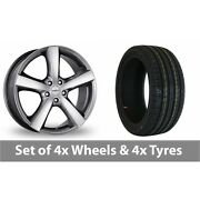 4 X 18 Dezent High Gloss Alloy Wheel Rims And Tyres - 225/50/18