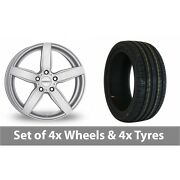 4 X 18 Dezent Tb Silver Alloy Wheel Rims And Tyres - 225/40/18