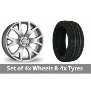 4 X 18 Dezent Silver Alloy Wheel Rims And Tyres - 245/50/18