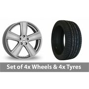 4 X 20 Dezent Th Silver Alloy Wheel Rims And Tyres - 255/45/20