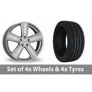 4 X 20 Dezent Th Silver Alloy Wheel Rims And Tyres - 295/40/20