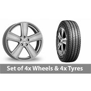 4 X 16 Dezent Th Silver Alloy Wheel Rims And Tyres - 215/75/16