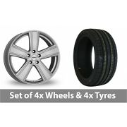 4 X 17 Dezent Th Silver Alloy Wheel Rims And Tyres - 215/50/17
