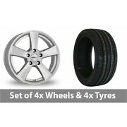 4 X 18 Dezent Tx Silver Alloy Wheel Rims And Tyres - 245/45/18