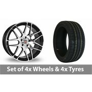 4 X 20 Calibre Exile Black Polished Alloy Wheel Rims And Tyres - 255/40/20