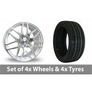 4 X 18 Calibre Exile White Polished Alloy Wheel Rims And Tyres - 235/40/18