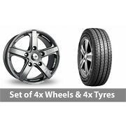 4 X 16 Fox Racing Commercial Grey Alloy Wheel Rims And Tyres - 215/75/16