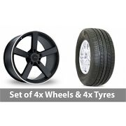 4 X 19 Fox Racing Ms003 Alloy Wheel Rims And Tyres - 255/50/19