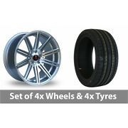 4 X 18 Axe Ex15 Silver Polished Alloy Wheel Rims And Tyres - 225/40/18