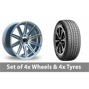 4 X 19 Axe Ex15 Silver Polished Alloy Wheel Rims And Tyres - 235/45/19