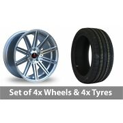 4 X 20 Axe Ex15 Silver Polished Alloy Wheel Rims And Tyres - 255/40/20