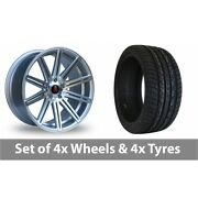 4 X 20 Axe Ex15 Silver Polished Alloy Wheel Rims And Tyres - 275/40/20