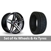 4 X 20 Axe Ex20 Black Polished Alloy Wheel Rims And Tyres - 255/45/20