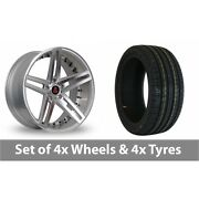 4 X 20 Axe Ex20 Silver Polished Alloy Wheel Rims And Tyres - 245/40/20