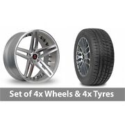 4 X 20 Axe Ex20 Silver Polished Alloy Wheel Rims And Tyres - 245/45/20