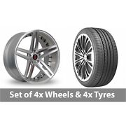4 X 20 Axe Ex20 Silver Polished Alloy Wheel Rims And Tyres - 275/35/20