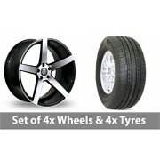 4 X 19 Axe Ex18 Black Polished Alloy Wheel Rims And Tyres - 255/50/19