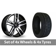 4 X 22 Axe Ex22 Black Polished Alloy Wheel Rims And Tyres - 265/30/22
