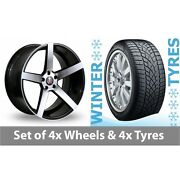 4 X 20 Axe Ex18 Black Polished Alloy Wheel Rims And Tyres - 265/35/20