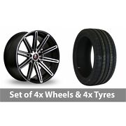 4 X 19 Axe Ex15 Black Polished Alloy Wheel Rims And Tyres - 255/35/19