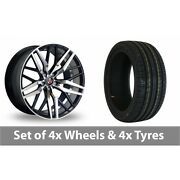 4 X 20 Axe Ex30 Black Polished Alloy Wheel Rims And Tyres - 255/40/20