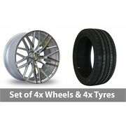 4 X 20 Axe Ex30 Silver Polished Alloy Wheel Rims And Tyres - 245/40/20