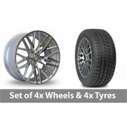 4 X 20 Axe Ex30 Silver Polished Alloy Wheel Rims And Tyres - 245/45/20
