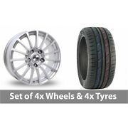 4 X 15 Tekno Rx11 Silver Alloy Wheel Rims And Tyres - 175/65/15