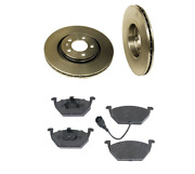 2 Brembo Front Rotors Opparts Brake Pad Set 4-cars W/ 280 Mm Disc For Vw