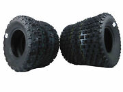 21x7-10 20x10-9 Yamaha Raptor 350 250 660 700 Massfx Front And Rear Tires Set
