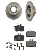 2 Brembo Rear Rotors Ate Brake Pad Set Kit For Cars With Solid Brake Disc For Vw