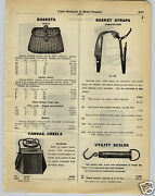1930 Paper Ad Fishing Split Willow Trout Basket Canvas Creel Folding Pocket Scal