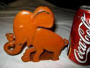 Spencer Guilford Connecticut Usa Toy Art Childs Size Cast Iron Elephant Doorstop