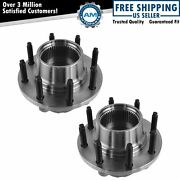 Front Wheel Hub And Bearing Pair Set For 99-01 Ford Super Duty Pickup 4wd 4x4