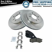 Front Ceramic Brake Pad And Disc Rotor Kit For Saturn Sc Sl Sw Series