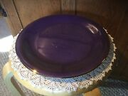 Pre Owned F. Giorgi By Ceramica 10.75 Dinner Plate. Purple Trimmed In Gold.