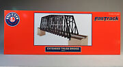 Lionel Extended Truss Bridge And Modular Piers O Gauge Fas Track Over 6-82110 New
