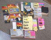 Post It Notes Pads Tape Flags Holder Organizer Mixed Lot Of 76