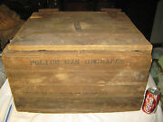 Antique Usa Police Tear Gas Chemical Glass Grenade Weapon Wood Box Sign Crate