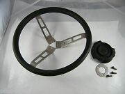 Vintage 1980and039s Bayliner Steering Wheel With Ring Bolts And Cover 14 Diameter