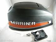 48 Hp Mariner Outboard Hood Cowling Top Cover Mid-1980and039s