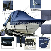 Sea Fox 266 Commander Center Console Fishing T-top Hard-top Boat Cover Navy